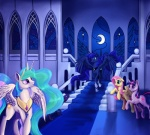 2013 absurd_res blue_hair castle cutie_mark dalagar dragon equine female feral fluttershy_(mlp) friendship_is_magic fur green_eyes group hair hi_res horn long_hair mammal multicolored_hair my_little_pony pegasus pink_hair princess princess_celestia_(mlp) princess_luna_(mlp) purple_hair royalty scalie stairs twilight_sparkle_(mlp) two_tone_hair unicorn winged_unicorn wings yellow_fur  Rating: Safe Score: 11 User: Somepony Date: May 23, 2013