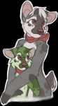 alpha_channel anthro brother cervine colored deer duo ears_down ears_forward ears_up embrace fangs fur green_fur grey_fur hair horn hug ixi jean_(artist) male mammal neopets nude red_eyes scarf sibling simple_background spots standing transparent_background  Rating: Safe Score: 11 User: AnonymousNeopian Date: April 05, 2015