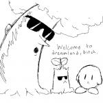 """english_text eyewear kirby kirby_(series) monochrome nintendo not_furry source_request sunglasses text tree unknown_artist video_games whispy_woods  Rating: Safe Score: 3 User: Juni221 Date: June 06, 2015"""""""