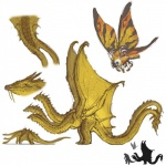 2_tails 3_heads arthropod dragon feral hydra insect jacketbear king_ghidorah male moth mothra multi_head multi_tail scalie simple_background western_dragon whiskers white_background wings yellow_bodyRating: SafeScore: 7User: smat_dragonDate: February 07, 2017