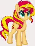 2016 animated ctb-36 cutie_mark equestria_girls equine equum_amici female feral fur green_eyes hair horn mammal multicolored_hair my_little_pony orange_fur simple_background smile solo sunset_shimmer_(eg) two_tone_hair unicorn white_background  Rating: Safe Score: 16 User: ConsciousDonkey Date: April 17, 2016