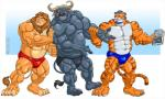 2016 abs anthro biceps bovine buffalo chief_bogo clothed clothing da_boz disney feline lion male mammal muscular pecs simba speedo swimsuit the_lion_king thong tiger topless underwear zootopiaRating: QuestionableScore: 3User: tyrewqDate: August 13, 2017