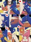anal anthro ass_to_mouth balls butt comic cum cum_in_ass cum_inside female fingering greninja group group_sex infernape internal kissing leo_(velociripper) licking male masturbation nintendo oral orgasm pokémon pussy rimming sex smeargle sola_(velociripper) sweat threesome tomoe_(velociripper) tongue tongue_out video_games winick-lim