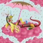 2014 apple bat_pony chocolate chocolate_rain cloud cotton_candy cutie_mark discord_(mlp) draconequus duo fangs female feral flutterbat_(mlp) fluttershy_(mlp) friendship_is_magic fruit hair male membranous_wings my_little_pony pink_hair raining red_eyes swanlullaby tongue tongue_out umbrella vampire wings   Rating: Safe  Score: 7  User: 2DUK  Date: December 09, 2014