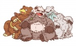 3_toes bear beartic biceps black_nose body_markings brown_fur chubby claws fur grey_fur grizzly_bear looking_at_viewer male markings nintendo panda pangoro pokémon polar_bear sitting unknown_artist ursaring video_games white_fur   Rating: Safe  Score: 10  User: BlackBoltEX  Date: August 17, 2013