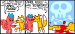 april_fools blood bow canine comic dave_kelly death english_text female fox foxy_fox humor knife mammal rodent shelly_squirrel shmorky squirrel text   Rating: Safe  Score: 0  User: FinallyLostIt  Date: April 02, 2014