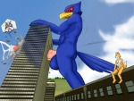 anthro avian balls big_balls big_penis building building_sex butt canine cum falco_lombardi fox fox_mccloud kp-yoshi macro male male/male mammal masturbation nintendo penis sex star_fox video_games wolf_o'donnell  Rating: Explicit Score: -2 User: FalcoFox Date: February 01, 2012""