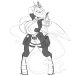 anthro areola big_breasts breasts cleavage clothed clothing deadpool equine erect_nipples female friendship_is_magic gun horn huge_breasts kevinsano mammal melee_weapon my_little_pony nipples princess_luna_(mlp) ranged_weapon solo sword weapon winged_unicorn wings  Rating: Questionable Score: 13 User: Robinebra Date: September 15, 2015