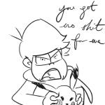 2015 >:( ambiguous_gender angry anime clothing crossover cursive duo english_text feral human looking_at_viewer male mammal nintendo open_mouth osomatsu-san osomatsu_matsuno pikachu pokémon rap_lyric_reference simple_background sketch text unknown_artist video_games white_background yelling  Rating: Safe Score: 2 User: SwiperTheFox Date: December 11, 2015