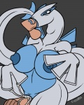 anthro big_breasts blue_eyes breasts canastus chubby cum fellatio female group group_sex lugia male male/female neck_bulge nintendo nipples oral penetration penis pokémon pussy sex spitroast threesome vaginal video_games   Rating: Explicit  Score: 7  User: IguanasAreCool  Date: January 24, 2015