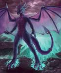 2015 anthro anthrofied blue_eyes breasts claws cloud cynder dragon featureless_breasts female horn membranous_wings nude outside purple_scales pussy scales scalie solo spectrumshift spyro_the_dragon toe_claws video_games wings  Rating: Explicit Score: 20 User: GameManiac Date: February 02, 2016