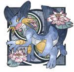 ambiguous_gender flower kann1kura_(kanna) leaf looking_at_viewer nintendo open_mouth plant pokémon solo swampert tongue video_games   Rating: Safe  Score: 6  User: N7  Date: April 09, 2015