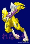 anthro breasts canine claws digimon female fox fur gloves green_eyes kemono_inukai mammal masturbation pussy renamon solo standing tail_stimulation yellow_fur   Rating: Explicit  Score: 2  User: Kitsu~  Date: December 22, 2008