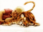 ambiguous_gender calvin calvin_and_hobbes cute daww duo feline feral hobbes human isaiah_stephens male mammal photorealism plain_background tiger white_background   Rating: Safe  Score: 12  User: russ  Date: August 28, 2010