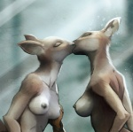2015 anthro breast_grab breasts cervine deer disembodied_hand duo eyes_closed female female/female hattonslayden kissing mammal nipples nude  Rating: Questionable Score: 34 User: Numeroth Date: July 02, 2015""