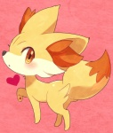 <3 ambiguous_gender blush canine fennekin feral mammal nintendo pokémon pokémon_(species) solo video_games 渓介輔之助/hrnk