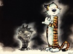 4:3 bill_watterson calvin calvin_and_hobbes couple feline hobbes human kazam male scratching_head tiger wallpaper   Rating: Safe  Score: 1  User: ktkr  Date: April 11, 2010