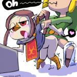 avian bird blush butt clothed_sex clothing cum duo female half-closed_eyes hylian link male male/female medli minus8 nintendo open_mouth red_eyes rito sex solo_focus the_legend_of_zelda tongue tongue_out video_games  Rating: Explicit Score: 8 User: JGG3 Date: May 02, 2015""