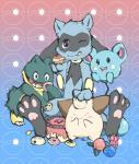 ambiguous_gender azurill baby blue_background candy cleffa cute doughnut food gradient_background kinkykenku_(artist) munchlax nintendo pastel pokémon pokémon_(species) red_background riolu simple_background video_games youngRating: SafeScore: 3User: thegumpsquadDate: April 15, 2018