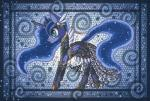2013 armor blue_eyes blue_fur blue_hair blue_skin clothed clothing crown digital_media_(artwork) dress equine female feral friendship_is_magic fur hair hi_res horn long_hair mammal my_little_pony princess_luna_(mlp) raptor007 solo winged_unicorn wings   Rating: Safe  Score: 4  User: GameManiac  Date: March 19, 2015