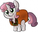 beef briskby cub equid equine female feral food friendship_is_magic green_eyes hair hasbro horn lettuce mammal meat multicolored_hair my_little_pony plant smile solo sweetie_belle_(mlp) taco tortilla two_tone_hair unicorn vegetable white_body young