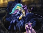 2016 cutie_mark digital_media_(artwork) equine feathered_wings feathers female feral friendship_is_magic group hair horn inspired_by_proper_art long_hair lyre mammal multicolored_hair musical_instrument my_little_pony princess_cadance_(mlp) princess_celestia_(mlp) princess_luna_(mlp) sibling sisters slifertheskydragon twilight_sparkle_(mlp) winged_unicorn wings  Rating: Safe Score: 14 User: Somepony Date: January 26, 2016