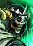 adventure_time cartoon_network crown hi_res horn lich male nightmare_fuel not_furry skull solo teeth the_lich undead unknown_artist