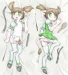 anthro blush bovine breasts brown_hair butt clothing female green_eyes hair hooves horn looking_at_viewer lying mammal minum open_mouth pussy small_breasts solo spread_legs spreading   Rating: Explicit  Score: 3  User: Pasiphaë  Date: February 01, 2015