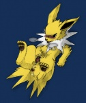 balls blue_background blush canine cum cum_in_hand drooling eeveelution feral jolteon male mammal masturbation mufflns nintendo panting penis plain_background pokémon saliva solo video_games   Rating: Explicit  Score: 5  User: MUFFlNS  Date: November 26, 2011