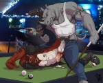 anal anal_penetration badcoyote bar biceps cum cum_in_ass cum_inside duo erection feline horn humanoid_penis male male/male mammal muscles nipple_piercing nipples penetration penis piercing pool_table pubes public rhinoceros ryancarthage sex tattoo tiger unzipped  Rating: Explicit Score: 29 User: beartraps Date: August 21, 2015