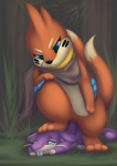 buizel crush domination duo feet female female_domination feral male nintendo paws pokémon pose rattata revous scar size_difference stomping teeth trampling video_games