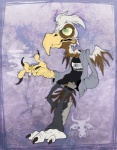 """avian brown_fur clothed clothing facerot fur green_eyes gryphon male plain_background smoking solo turz white_fur  Rating: Safe Score: 0 User: TurzV Date: July 07, 2015"""""""