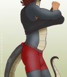 2015 anthro boxers_(clothing) bulge canine clothed clothing crocdragon89 hair half-dressed jack male mammal solo toned underwear undressing  Rating: Questionable Score: 2 User: Sbemail4500 Date: June 12, 2015