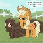 apple_bloom_(mlp) applejack_(mlp) arthropod cub digital_media_(artwork) duo earth_pony equine feces female feral fly friendship_is_magic hat horse insect mammal my_little_pony pony scat smudge_proof teats young  Rating: Questionable Score: 2 User: Smudge_Proof Date: October 19, 2013