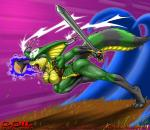 2002 anaconda angry animal_tail anthro belt bone breasts claws coiling detailed_background digital_media_(artwork) ear_piercing english_text eyelashes fangs female green_scales max_blackrabbit melee_weapon nipples nude open_mouth piercing red_eyes reptile scales scalie snake solo sword teeth text tongue tongue_out watermark weapon white_sclera  Rating: Questionable Score: 8 User: DirtyRatMatt Date: May 02, 2016