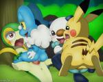 2018 anus balls blush cowgirl_position erection female female_on_top feral feral_on_feral froakie group interspecies lying male male/female male_penetrating mammal missionary_position nintendo on_back on_top open_mouth oshawott outside parallel_sex penetration penis pikachu pokémon pokémon_(species) pussy pussy_juice saliva scalie sex signature snivy tongue tongue_out vaginal vaginal_penetration video_games winick-limRating: ExplicitScore: 1User: AdmiralGregDate: May 27, 2018
