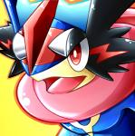 ambiguous_gender amphibian ash_greninja frog greninja long_tongue nintendo pokémon red_eyes solo tongue video_games  Rating: Safe Score: 0 User: Rad_Dudesman Date: February 08, 2016