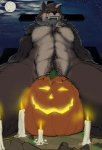 abs bad_dragon biceps canine david_(bad_dragon) full_moon jack_o'_lantern male mammal moon muscles narse night pecs pumpkin rape_face solo teeth vein were werewolf wolf   Rating: Questionable  Score: 8  User: DC_OZ  Date: March 01, 2013