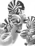 anthro arms_behind_head big_breasts breasts cigar cleavage clothed clothing dripping equine gideon huge_breasts hyper hyper_breasts lactating lips long_tongue looking_at_viewer mammal muscles nipples solo tongue zebra   Rating: Explicit  Score: 8  User: e62117  Date: December 04, 2013