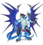 2013 2_heads anthro blizzard_king blue_scales claws digitigrade dragon drake erection etrian_odyssey horn hydra male multi_head multiple_eyes muscles nude pecs penis plain_background precum scalie sirboburto solo standing video_games white_background wings yellow_eyes   Rating: Explicit  Score: 12  User: e17en  Date: July 04, 2014