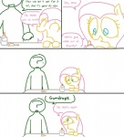 anon comic crutch dialogue english_text equine fluttershy_(mlp) friendship_is_magic glue horse human innocence lying mammal my_little_pony pegasus pony sweat text the_weaver wings   Rating: Safe  Score: 8  User: Hydrophilicguy  Date: May 11, 2015