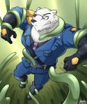 2016 anthro bear boots clenched_teeth clothed clothing digital_media_(artwork) eyewear footwear fur gloves hi_res league_of_legends maldu male mammal polar_bear police police_officer solo sunglasses teeth tentacles video_games volibear  Rating: Safe Score: 3 User: ArkhamVI Date: May 03, 2016