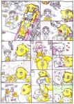 anthro breasts canine comic digimon english_text feline female female/female fox fur gatomon group laser licking lobotomy mammal mariano pussy pussy_juice renamon scientist text tongue tongue_out traditional_media_(artwork) white_fur yellow_fur  Rating: Explicit Score: 18 User: APimpFromBuffalo Date: October 18, 2012