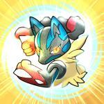 ambiguous_gender black_fur blue_fur fur lucario mega_evolution mega_lucario nintendo phra pokemon_shuffle pokémon solo spikes video_games yellow_eyes  Rating: Safe Score: 6 User: Rad_Dudesman Date: January 27, 2016