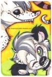 anthro blue_eyes duo female green_eyes holly_massey lemur looking_at_viewer mammal marsupial opossum primate seux teeth virginia_opossum zeriara_(character)   Rating: Questionable  Score: 0  User: scrapies  Date: February 21, 2008