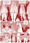 balls bottomless campfire cervine cloak clothed clothing comic deer dialogue english_text feline female flaccid furronika hi_res hood jewelry male mammal monochrome necklace nipples penis pussy red_and_white speech_bubble standing stripes text tiger unknown_species  Rating: Explicit Score: 9 User: Munkelzahn Date: February 25, 2016
