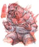 anthro biceps canine chest_tuft claws clothed clothing emboss0320 fangs fur growth half-dressed human male mammal muscle_growth muscular open_mouth pants pecs red_eyes saliva shirt simple_background solo surprise teeth tongue topless torn_clothing transformation tuft vein were werewolf white_background  Rating: Safe Score: 5 User: Vanzilen Date: July 29, 2015