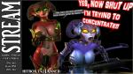 3d angry armor big_breasts breasts bulge clothed clothing codpiece demon duo ezria female gaming gem glass glowing gold headphones hooves horn humanoid jessica_anner keyboard mammal microphone midriff mouse pulling rodent sibling sisters skimpy spade_tail succubus table twins unconvincing_armor xelthia   Rating: Safe  Score: 4  User: Jessica_Anner  Date: March 21, 2015