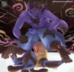 2015 anthro balls canine cum cum_on_body cum_on_self dripping duo eyes_closed eyewear fur hot_dogging humanoid_penis interspecies lucario male male/male mammal nintendo nude penis pokémon poképhilia precum purple_fur thigh_sex upside_down video_games yellow_eyes zeta-haru  Rating: Explicit Score: 69 User: Numeroth Date: May 12, 2015