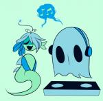 duo eyes_closed female fish ghost headphones male marine musical_note napstablook open_mouth saccharinescorpion shyren singing siren speech_bubble spirit undertale  Rating: Safe Score: 0 User: ROTHY Date: October 06, 2015